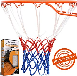 BETTERLINE Basketball Net Replacement | Red White and Blue All-Weather Thick Heavy Duty | 12 Loop Net Fits Standard Hoops for Indoor and Outdoor Rims