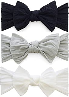 Bows 3 Pack - Baby to Little Girls Classic Knot Headbands