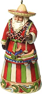 "Jim Shore Heartwood Creek Mexican Santa Stone Resin Hanging Ornament, 4.5"""