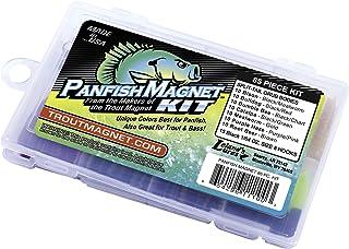 Trout Magnet Panfish Magnet Kit - 70 Split Tail Grub Bodies, 15 Black Size 8 Hooks