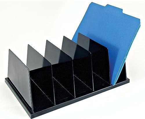 alta calidad y envío rápido Large Sorter, 5 Compartments, 9 x13-1 x13-1 x13-1 2 x5 , negro, Sold as 1 Each  para barato