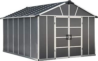 Palram HG9913SGY Yukon Storage Shed, 11' x 13', Gray