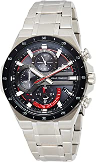 ساعة بعرض انالوج ومينا سوداء للرجال من كاسيو - EQS-920DB-1AVUDF (EX487)