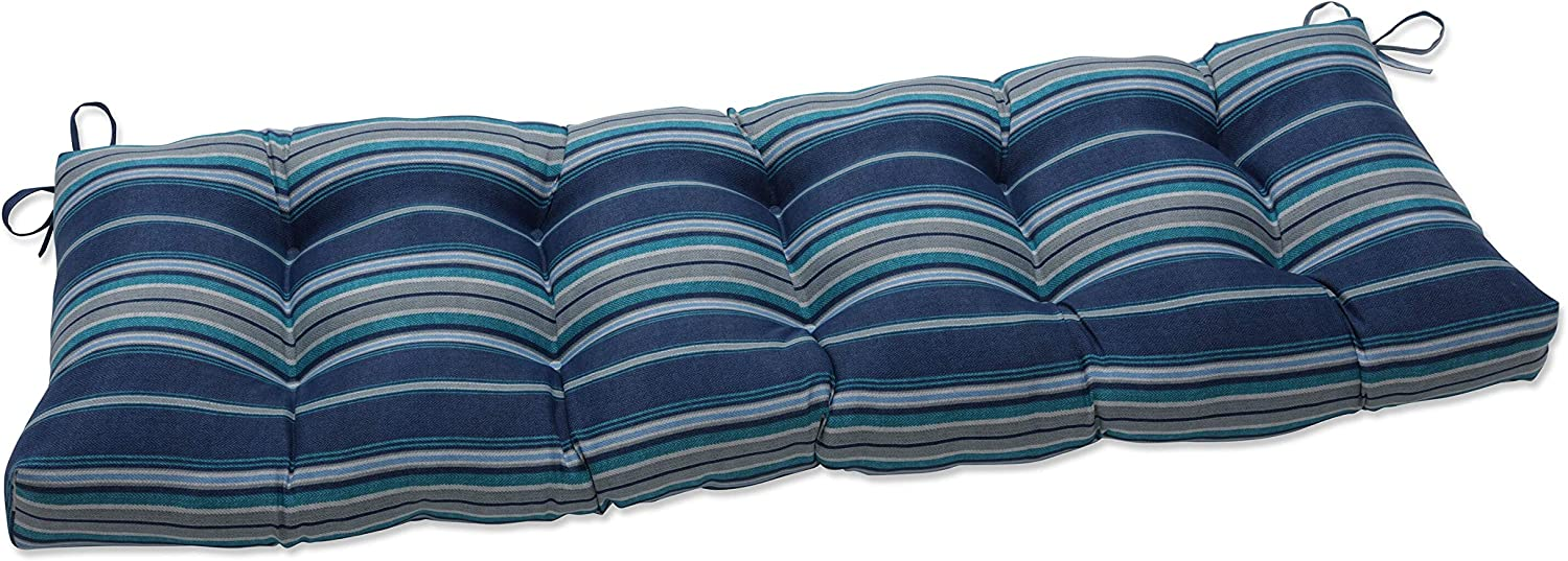 Pillow Perfect Outdoor | Indoor Terrace Caribe Tufted Bench Swing Cushion, 60