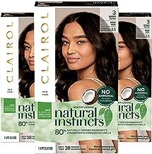 Clairol Natural Instincts Semi-Permanent, 3 Brown Black, Ebony Mocha, Pack of 3