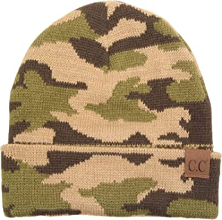 Funky Junque Camouflage Camo Print Knit Cuff Beanie Warm Winter Hat Skully Cap