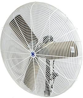 """Schaefer 30CFO 30"""" Fixed-Mount Circulation High Airflow Fan, Industrial Made in USA, 2-Speed, 1/2 HP, 9420CFM, White"""