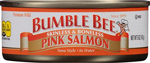 BUMBLE BEE Skinless and Boneless Pink Salmon In Water, 5 Ounce Cans (Pack of 12), Ready..