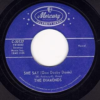 DIAMONDS- she say/ from the bottom of my heart MERCURY 71404 (45 vinyl single 7-inch record)