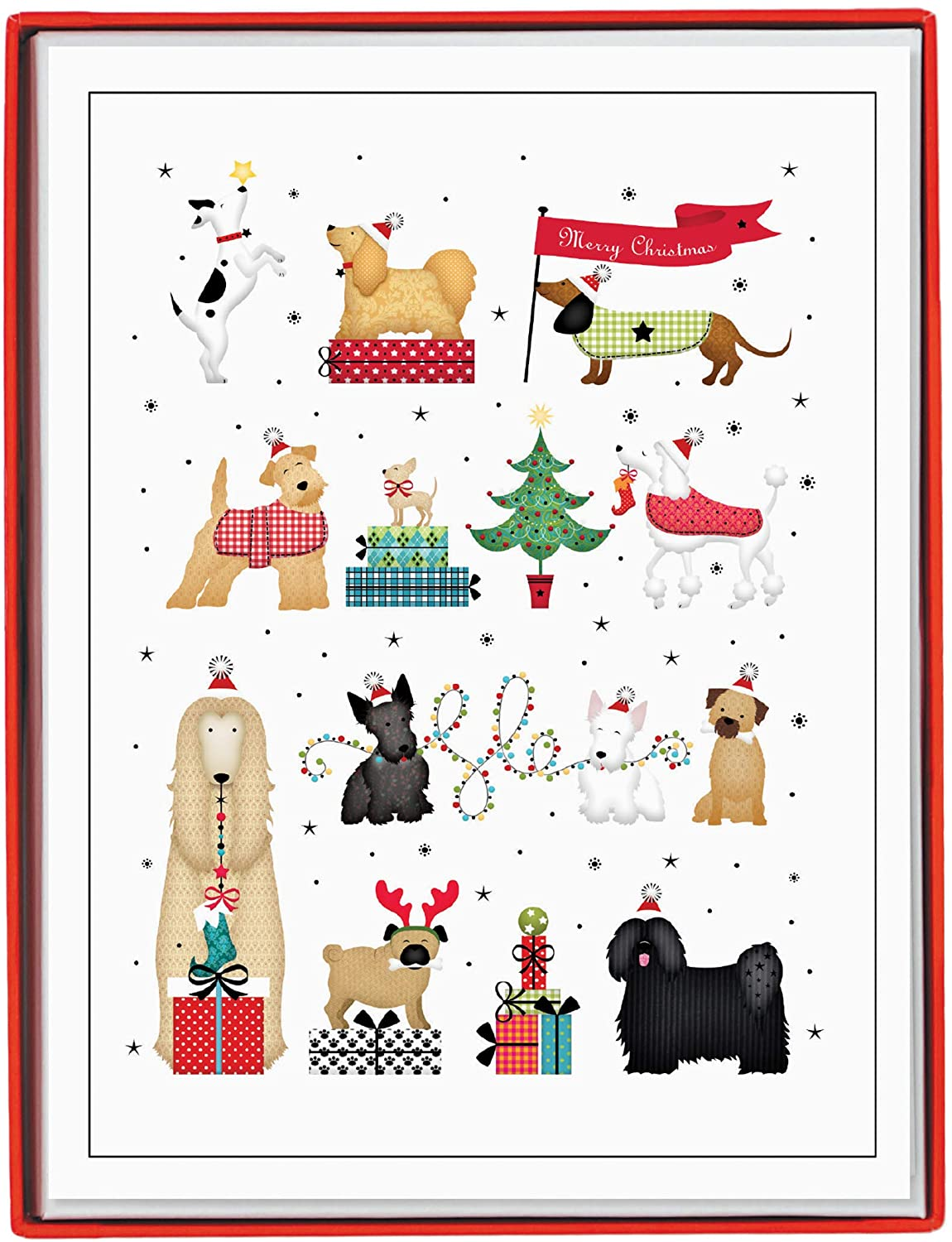 Genuine Free Shipping Graphique Holiday Clearance SALE! Limited time! Dogs Boxed – Cards 15 Embel