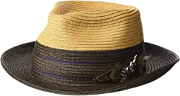 Two-Tone Paper Braid Fedora