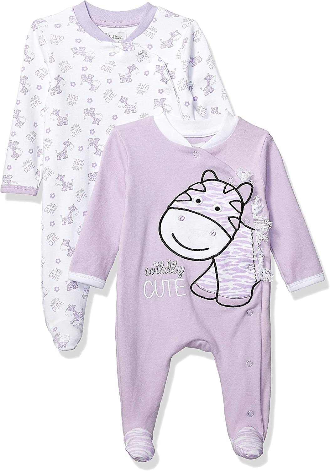 Quiltex Girls' Toddler Wildy Print Cute Novelty Coverall 2 Pack Set