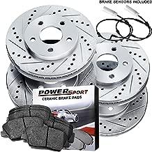 Fit 2007-2011 BMW 328i,323i,325i PowerSport Full Kit Brake Rotors+Ceramic Pads