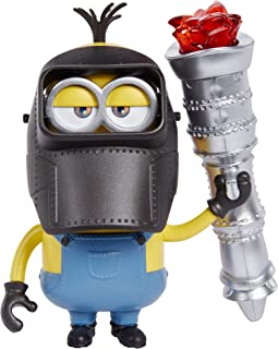 Mattel Minions: Rise of Gru Kevin Action Figure Approx 4-in / 10-cm with Button Activated Flamethrower & Construction Acce...