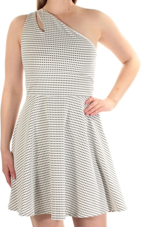 Bar III OneShoulder Fit & Flare Dress