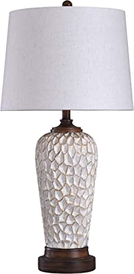 Collective Design L316895AM Rockwell Lamp, White, Brown