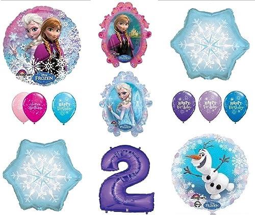 respuestas rápidas LoonBalloon FROZEN Anna Anna Anna ELSA OLAF Snowman Snowflake 2nd  2 (12) Birthday Party Balloons Set by LoonBalloon  directo de fábrica