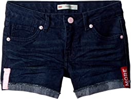Levi's® Kids Embroidered Shorty Shorts (Big Kids)