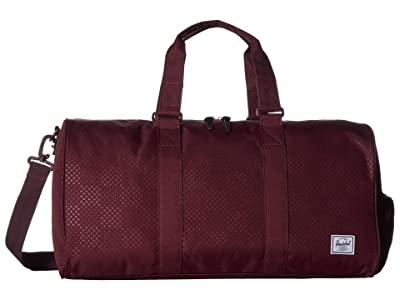 Herschel Supply Co. Novel Mid-Volume (Plum Dot Check) Duffel Bags