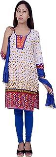 Rama Printed White Colour Cotton Kurta with Legging & Dupatta Set