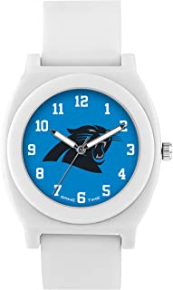 Game Time Women's 'Fan' Quartz Plastic and Rubber Casual Watch, Color:White (Model: NFL-FNW-CAR)