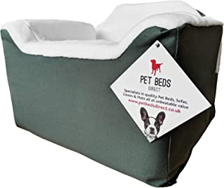 Pet Beds Direct Car Seat for Dogs & Pets Travel Basket/Safety Harness Car Seat in Medium (32x55x55) Green