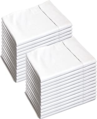 Glarea Microfiber Pillow Cases, White, Standard Queen (Bulk Pack of 24)