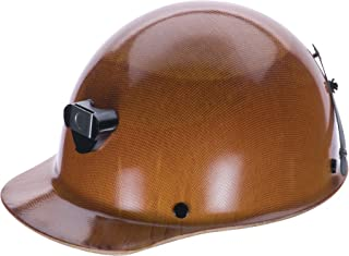 MSA 460409 Skullgard Cap Hard Hat, with 4-point Staz-on Suspension, lamp bracket and cord holder, Standard, Natural Tan