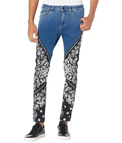 Versace Jeans Couture Skinny Fit Bandana Jeans (Indigo) Men