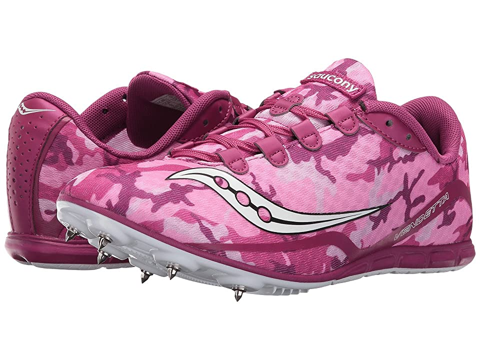 Saucony Vendetta (Pink/White) Women