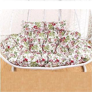 Cesta colgante Cojines para sillas con forma de huevo Cojín para silla mecedora de ratán colgante doble / Cojín para cesta oscilante de engrosamiento / Cojín para silla oscilante con forma de huevo c