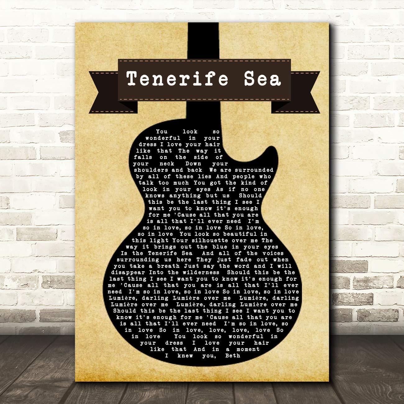 Ed Sheeran Tenerife Sea Black - Póster de la canción de la ...