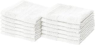 AmazonBasics Fade-Resistant Cotton Washcloths - Pack of 12, White