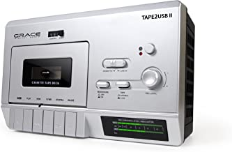 Grace Digital GDI-Tape2USB200 USB Tape Player with Built-In Mic Includes PC/MAC Software (Discontinued by Manufacturer)