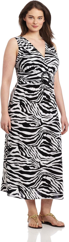 Star Vixen Women's PlusSize Sleeveless ORing Maxi