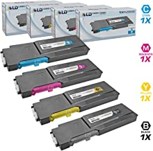 LD Compatible Toner Cartridge Replacement for Xerox Phaser 6600 & WorkCentre 6605 High Yield (Black, Cyan, Magenta, Yellow, 4-Pack)
