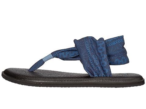 Sling Yoga Heaven Prints 2 Blue Shibori Stripes Sanuk 5dUBw5