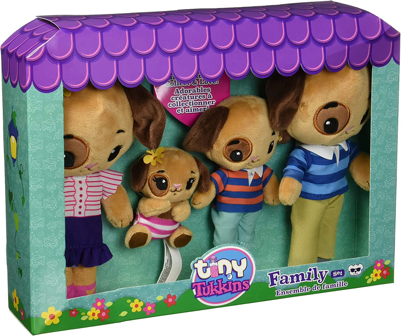 TINY TUKKINS Stuffed Dog Be super welcome Family Indefinitely 4 Plush Animals -