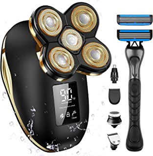 Bald Head Shavers for Men, OriHea Electric Razor for Men with Handle Shaver Professional...