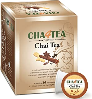 Sponsored Ad - Cha4TEA 36-Count Chai Black Tea Pods for Keurig K-Cup Brewers