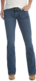 Wrangler Women's Premium Patch Booty Up Technology Sits Above Hip Jeans