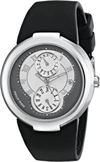 """Philip Stein Women's 31-AGRW-RBB""""Active"""" Stainless Steel Watch with Black Rubber Strap"""