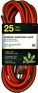 GoGreen Power GG-13725 – 16/3 25' SJTW Outdoor Extension Cord – Lighted End