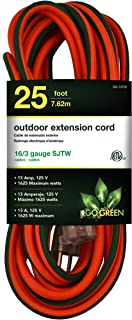 GoGreen Power GG-13725 - 16/3 25' SJTW Outdoor Extension Cord - Lighted End