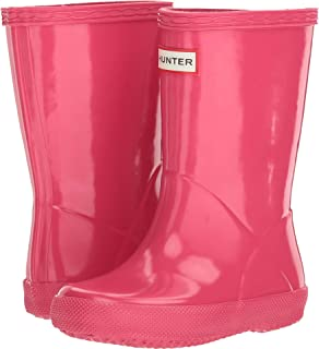 Hunter Original Kids' First Classic Gloss Rain Boot (Toddler) Bright Pink (10 M US Toddler)