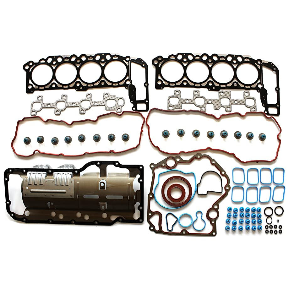 SCITOO Replacement for Head Gasket Set fits Chrysler Aspen Dodge Dakota Durango Ram 1500 Jeep Mitsubishi Raider 4.7L 2004-2007 Timing Cover Gaskets