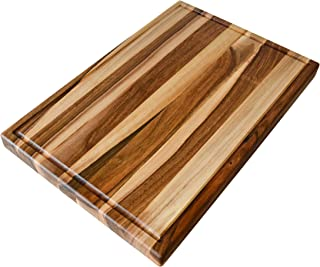 NaturalDesign Cutting Board 18 x 12 x 1 inches Edge Grain Chopping Wood: Walnut Hardwood Extra Thick Appetizer Serving Platter Durable & Resistant