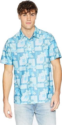Aloha Woodblock Polo