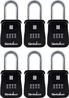 SimbaLux Combo Realtor Lockbox Quality 4 Digit Numeric Combination Real Estate Lock Box, 6-Pack
