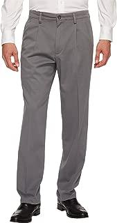 Men's Classic Fit Comfort Khaki Pleated Pants D3
